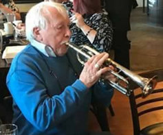 Ron Miscavige playing trumpet