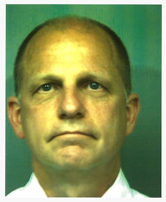 Virginia Peninsula Regional Jail mug shot of Ronald R.M. Miscavige taken on August 21, 2012