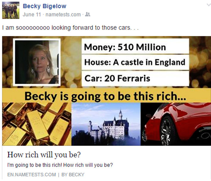 becky bigelow facebook post