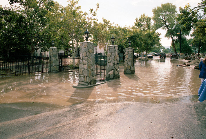 Photo after the Golden Era flood, entry gates