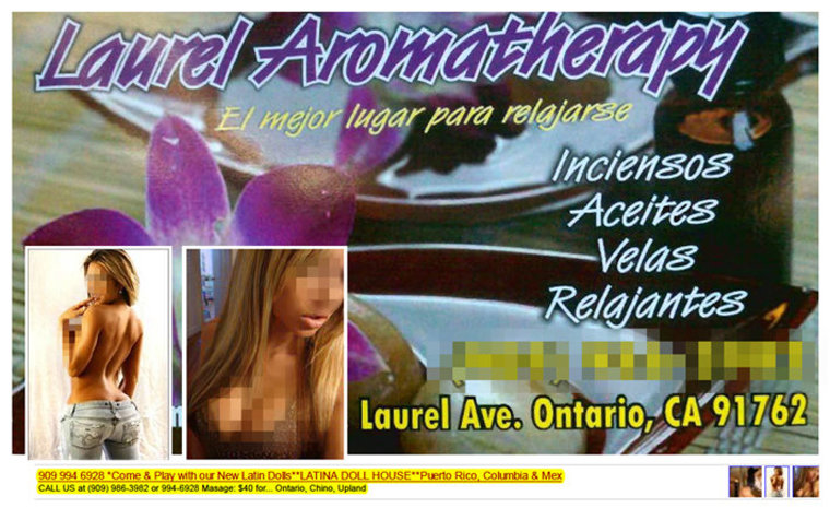 This is some of the promotion for Laurel Aromatherapy, available online.