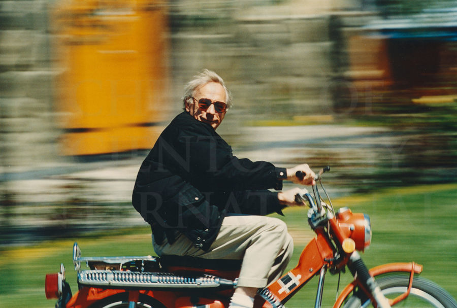 Ron Miscavige riding motorcycle