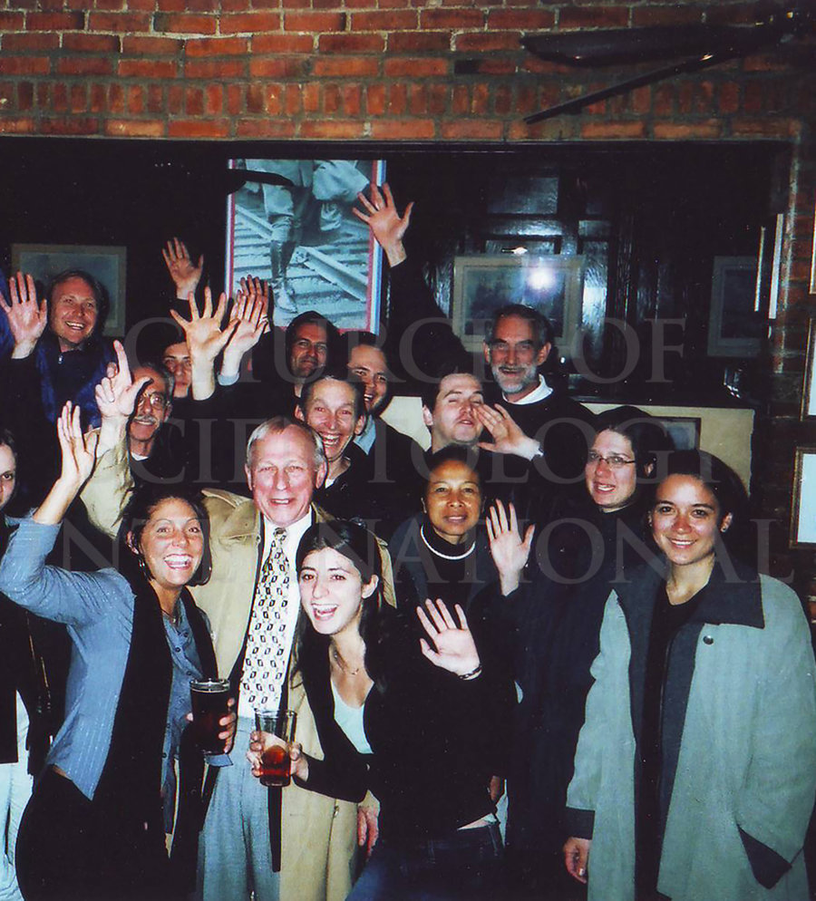 Ron Miscavige with Gold event personnel in Buffalo