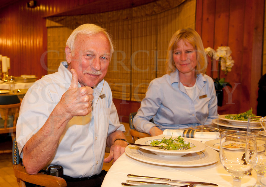 Ron Miscavige thumbs up at Birthday with Becky