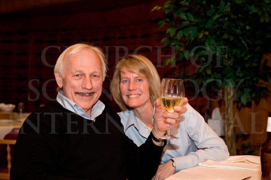 Ron-Miscavige-and-Becky-Bigelow-Toasting-on-Birthday