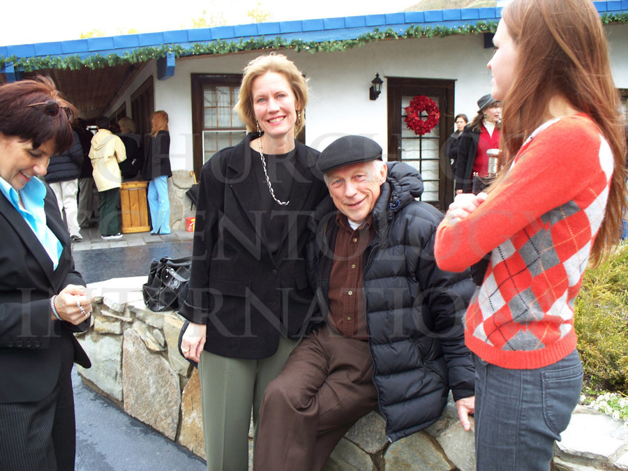 Ron Miscavige with Becky outside MCI at Gold Base