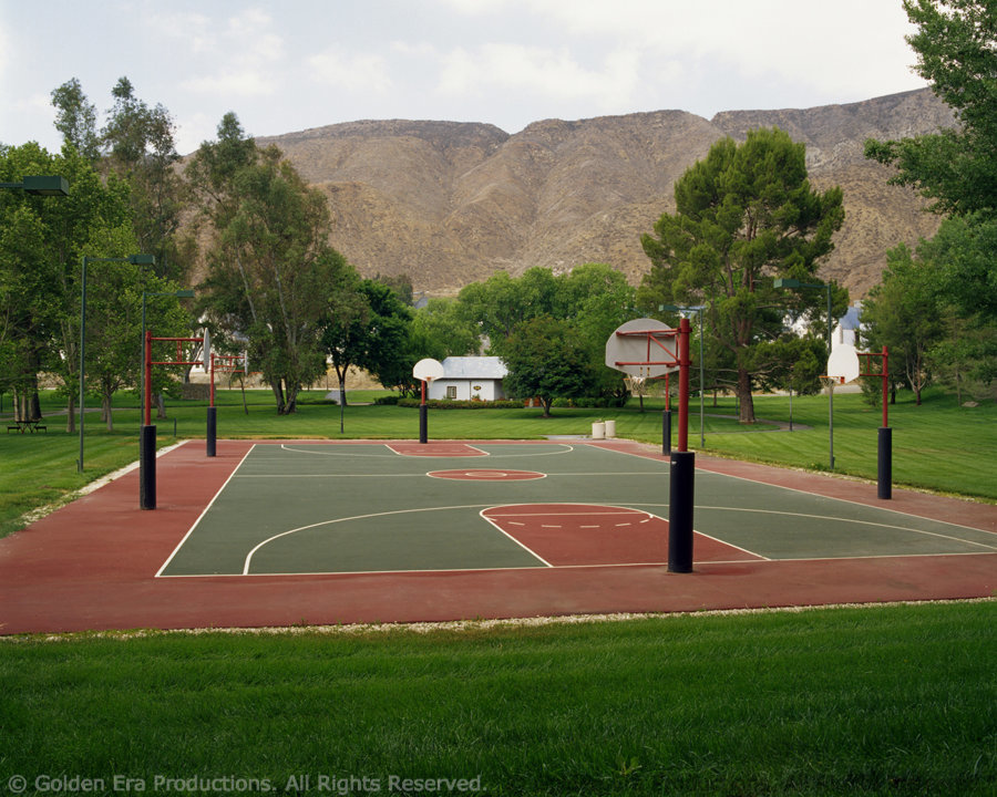 Gold Base Basketball Court